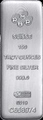 Silver bar 100 oz PAMP Suisse