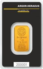 Gold bar 10 g Heraeus