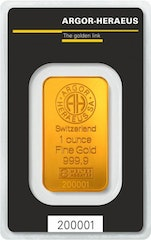 Gold bar 1 oz Heraeus
