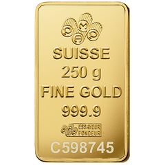 Gold bar 250 g PAMP Suisse
