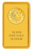 Gold bar 50 g Perth mint