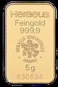 Lingote de oro 5 g Heraeus