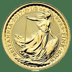 Gold coin 1/2 oz Britannia